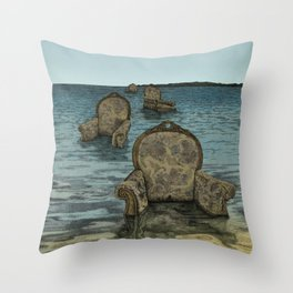 Alices Tears Throw Pillow
