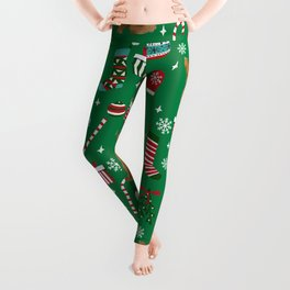 Bichpoo christmas dog breed holidays pet gifts pet friendly stockings candy canes snowflakes Leggings