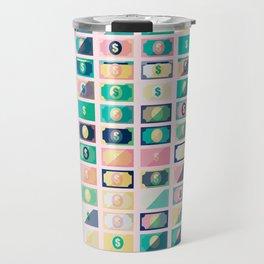 Dollar Pattern 60s Travel Mug