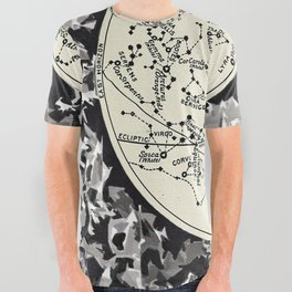 Vintage Celestial Chart: The Zodiac, Stars, and the Constellations. All Over Graphic Tee