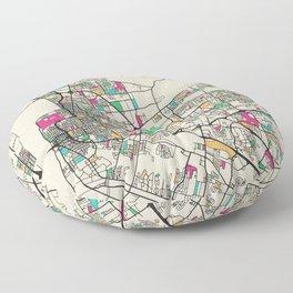 Colorful City Maps: Baton Rouge, Louisiana Floor Pillow