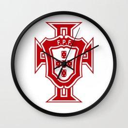 Portugal soccer logo FPF Wall Clock