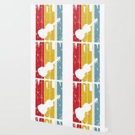 Violin Retro Violinist Gift 70s 80s Fiddle Fiddler Wallpaper