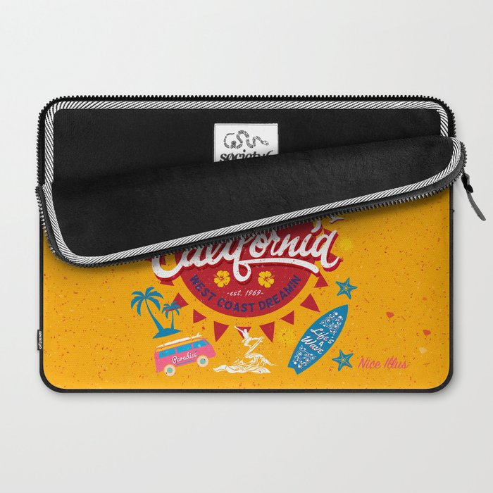 California West Coast Dreamin Laptop Sleeve