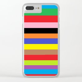 Multicolored  stripes Clear iPhone Case