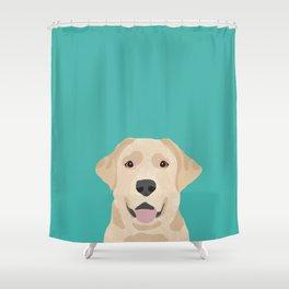 Labrador Retriever golden retriever yellow lab dog breed gifts Shower Curtain