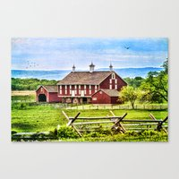 battlefield Canvas Prints featuring Battlefield Barn by CathyLICreations