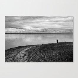 The fishing shadow Canvas Print