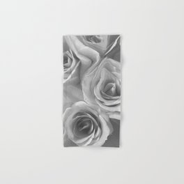 Roses in Black and White Hand & Bath Towel