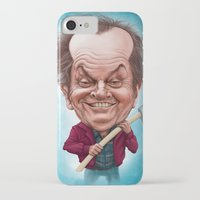 jack nicholson iPhone & iPod Cases featuring Jack Nicholson caricature by Jordygraph
