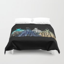 Evening Gowns Collection Fashion Illustration Duvet Cover