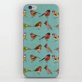 British Garden Birds - Blue iPhone Skin