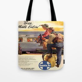 Vintage poster - Gee, that's Eatin' Tote Bag