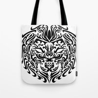 leo Tote Bags featuring Leo by Mario Sayavedra