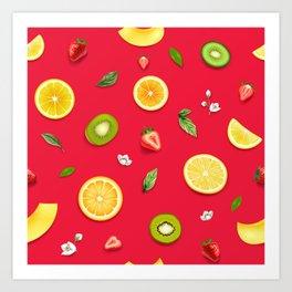 Mixed Fruit 14 Art Print