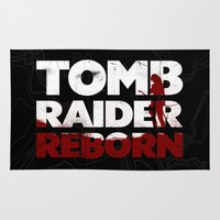 tomb raider Area & Throw Rugs featuring Tob Raider I. by 187designz