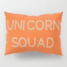 Unicorn Squad - Orange and White Pillow Sham