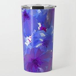 Blue Cherry Blossoms Travel Mug