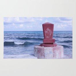 Winter Sea, Island of Women, Isla de Mujeres, Cancun, Mexico Rug