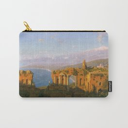 William Stanley Haseltine - Ruins Of The Roman Theatre At Taormina  Sicily Carry-All Pouch