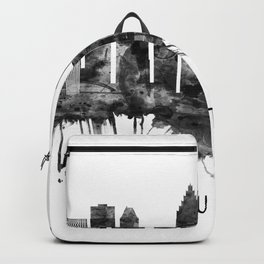Houston Texas Skyline BW Backpack