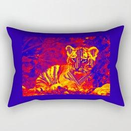 Aztec lion cub Rectangular Pillow