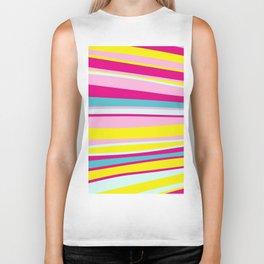 abstract stripes Biker Tank