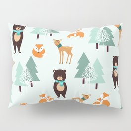 Animals in the winter - pattern #society6 Pillow Sham