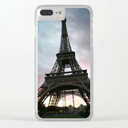 Cotton Candy Sky Eiffel Clear iPhone Case