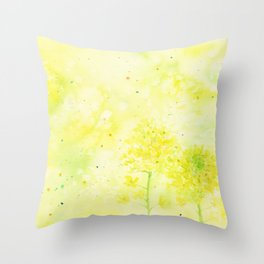 Sparking Summer , Art Watercolor Painting by Suisai Genki Throw Pillow