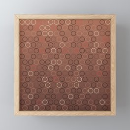 Tasty brown coffee chocolate background with circles Framed Mini Art Print