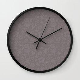 Mocha Doodles Wall Clock