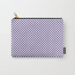 Paisley Purple and White Polka Dots Carry-All Pouch