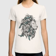 Poetic Lion Turquoise MEDIUM Natural Womens Fitted Tee