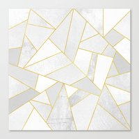 golden Canvas Prints featuring White Stone by Elisabeth Fredriksson