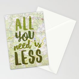 All You Need is Less Stationery Cards