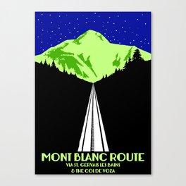 Mont Blanc Alps railway route Canvas Print