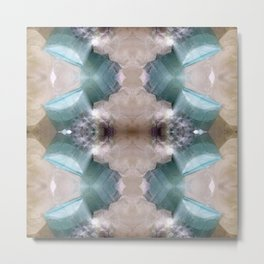 Tourmaline Aquamarine Blue Gray Gemstone Crystal Quartz Mineral Metal Print