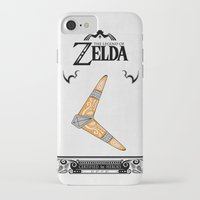 legend of zelda iPhone & iPod Cases featuring Zelda legend - Boomerang by Art & Be