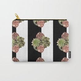 When Floral Meets Succulent Carry-All Pouch