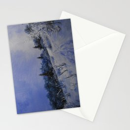 winter first comes in the mountain  Stationery Cards
