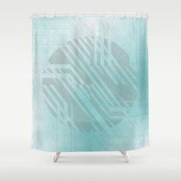 blue centre Shower Curtain