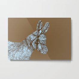 Woodland Donkey Metal Print
