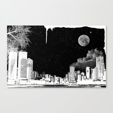 The city at night.. Canvas Print