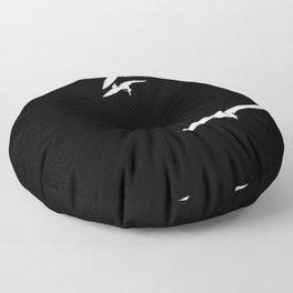 White birds Floor Pillow