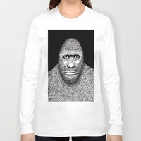 bigfoot Long Sleeve T-shirts featuring Bigfoot by The Art of Filippo Borghi