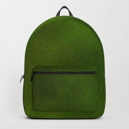 Green Color Velvet Backpack