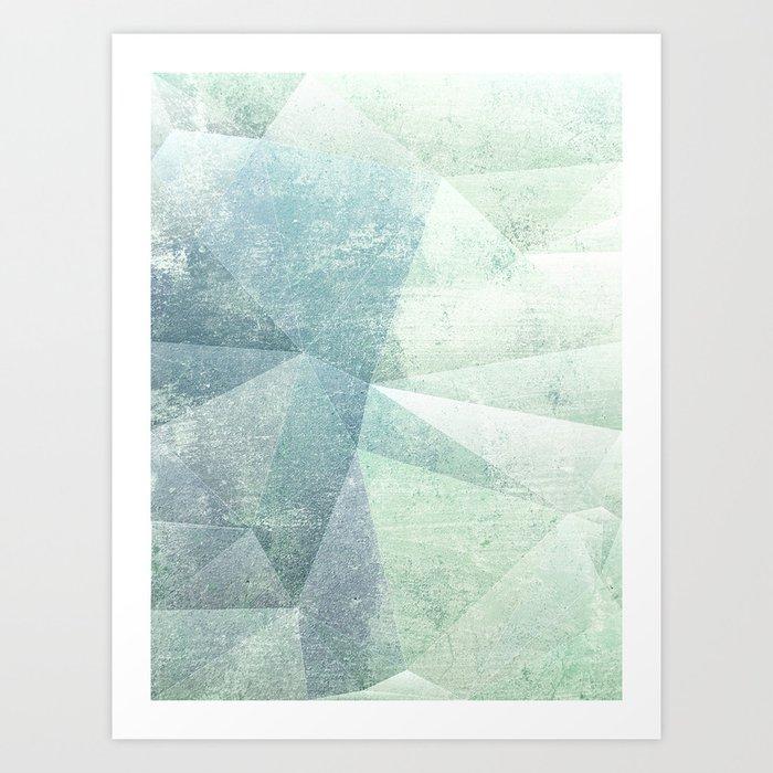Frozen Geometry - Teal & Turquoise Kunstdrucke