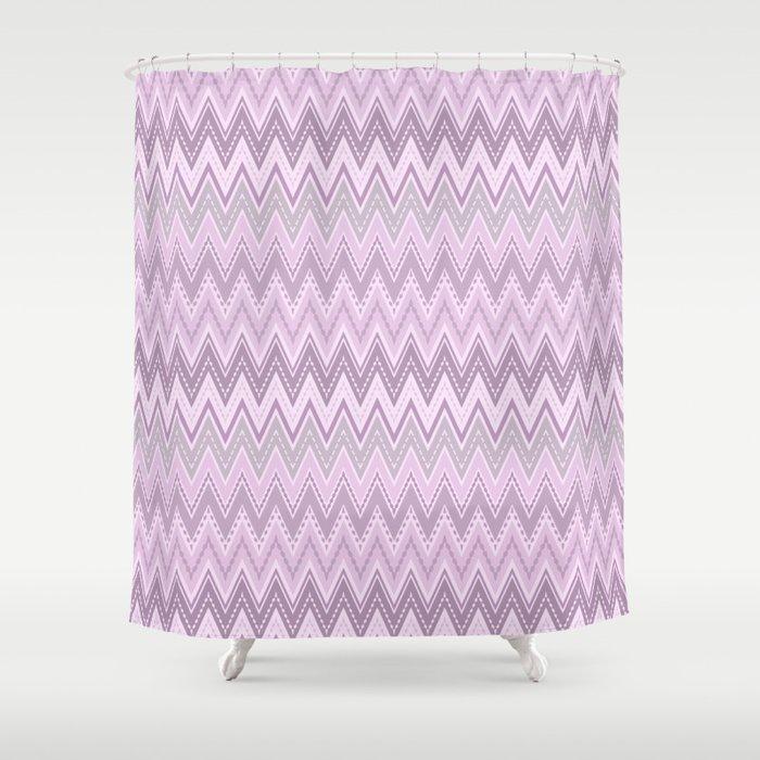 Zigzag Retro Shower Curtain