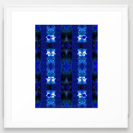 All Neon Like (Something Blue) Framed Art Print